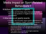 media impact on sport related behaviours i