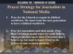 prayer strategy for journalists in national media