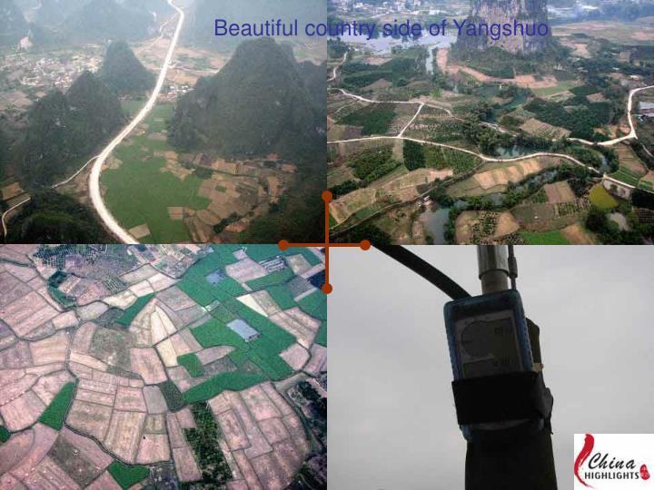 Beautiful country side of Yangshuo