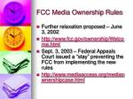 fcc media ownership rules