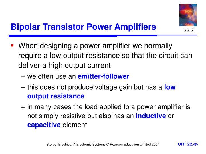 Bipolar transistor power amplifiers