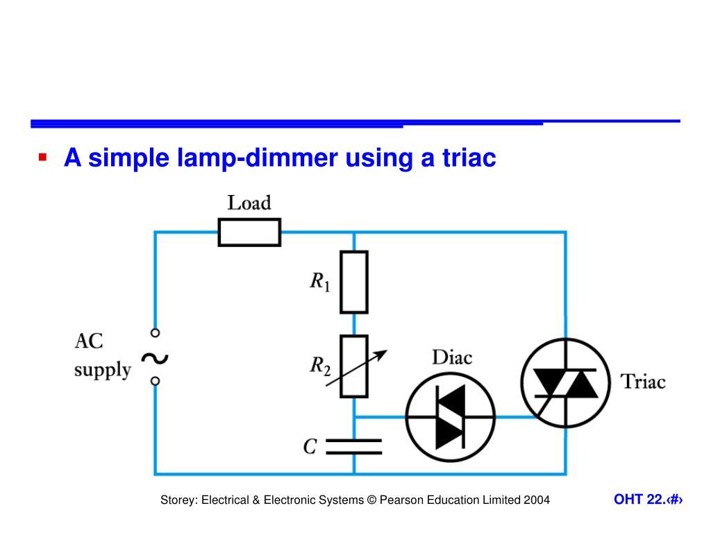 A simple lamp-dimmer using a triac