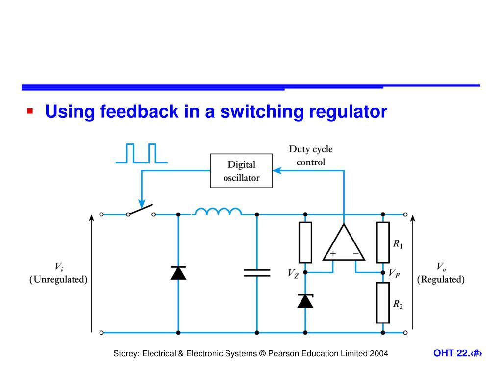 Using feedback in a switching regulator