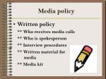 media policy