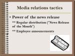 media relations tactics16