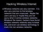 hacking wireless internet