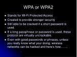 wpa or wpa2