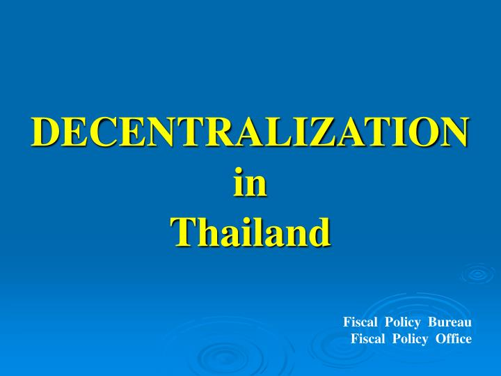 fiscal policy in thailand 1997 financia