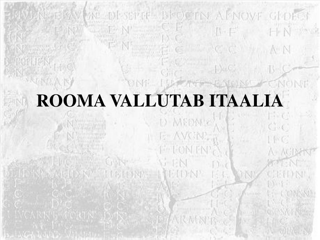 rooma vallutab itaalia l.