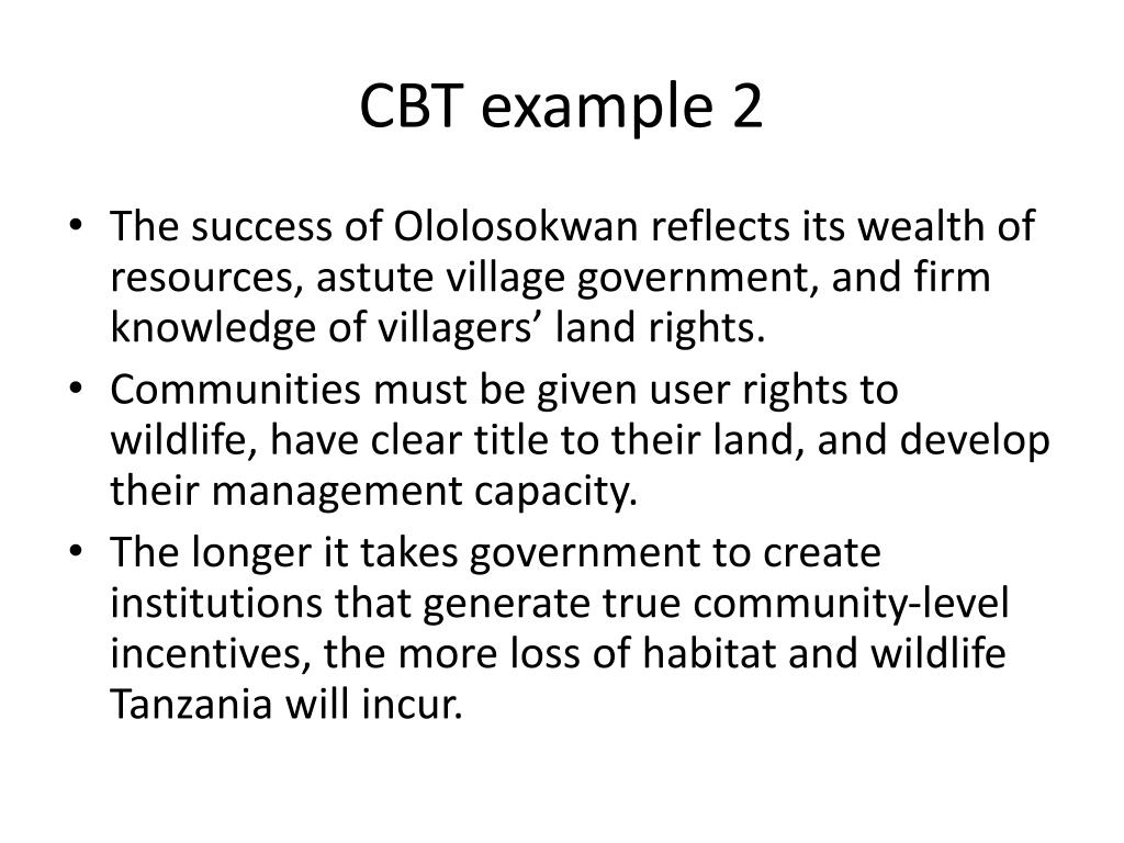 CBT example 2
