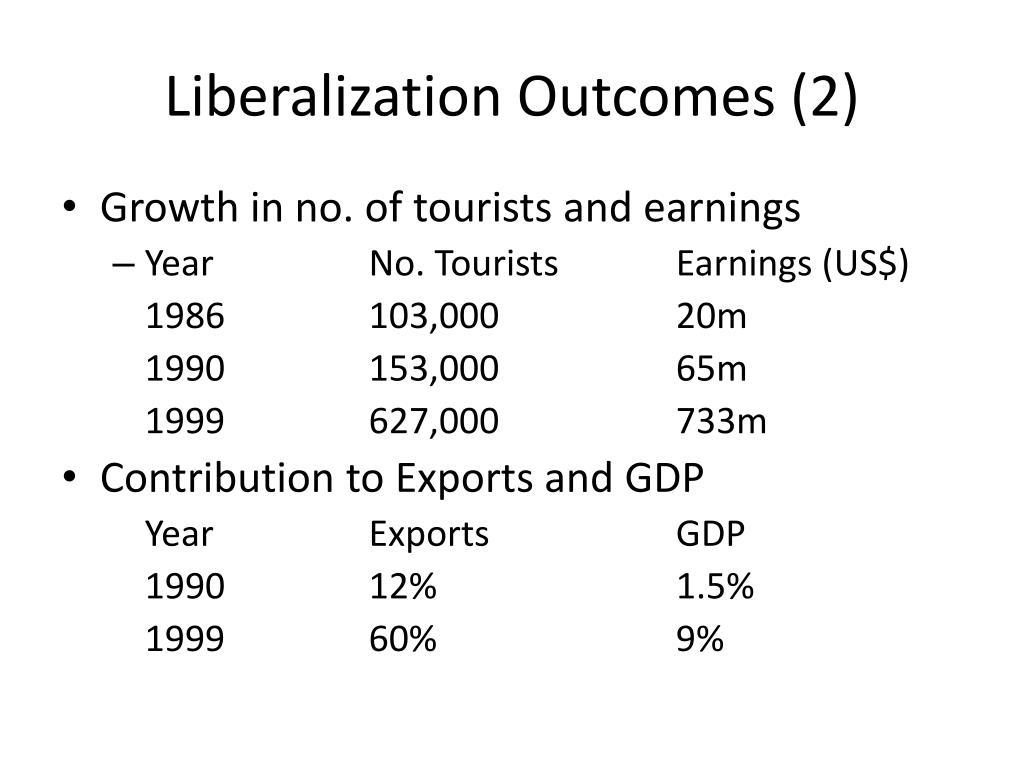 Liberalization Outcomes (2)