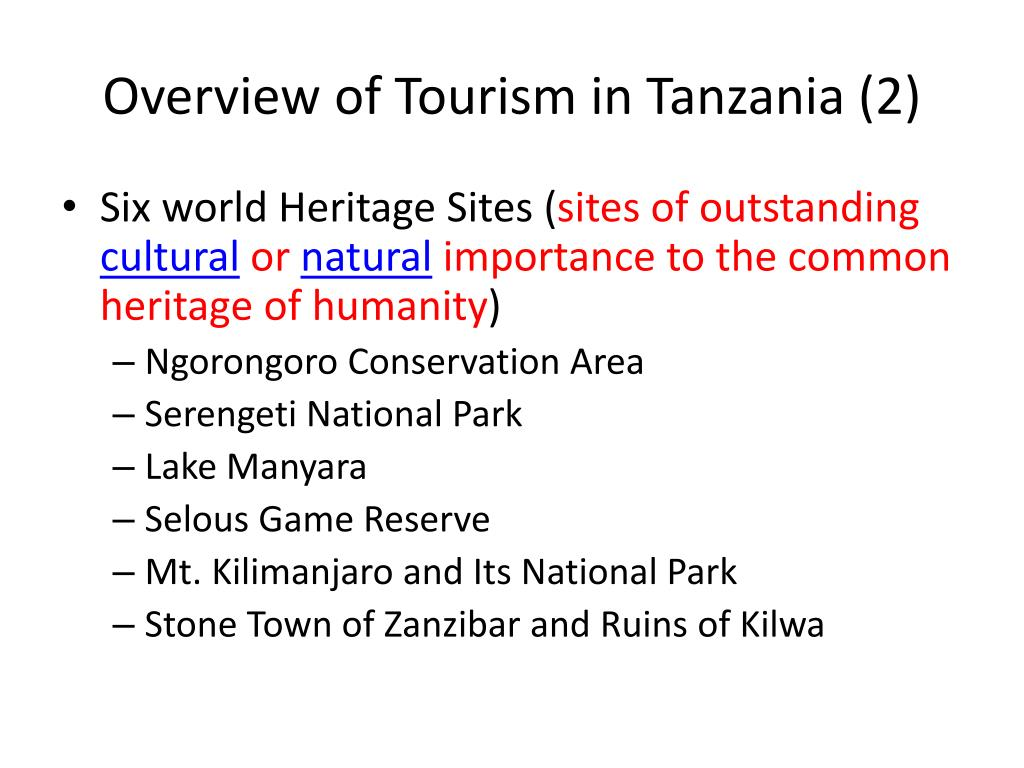 Overview of Tourism in Tanzania (2)