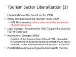 tourism sector liberalization 1