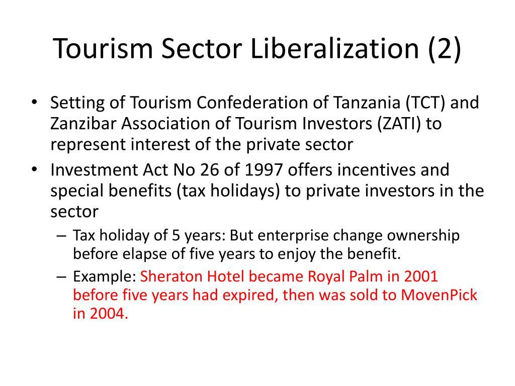 Tourism Sector Liberalization (2)