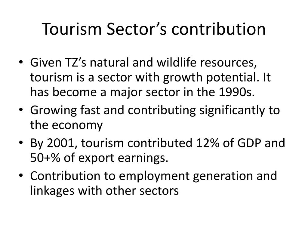 Tourism Sector's contribution