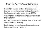 tourism sector s contribution
