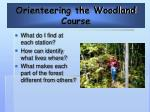 orienteering the woodland course