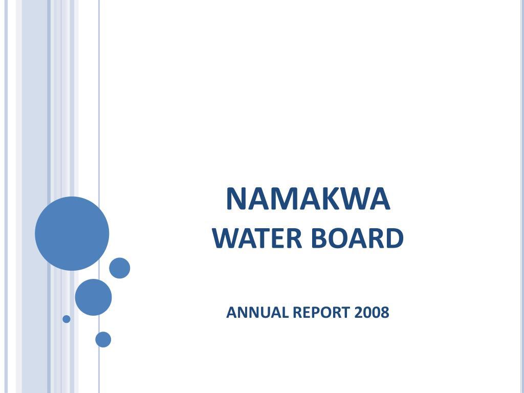 namakwa water board l.