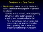floodplains and flood control
