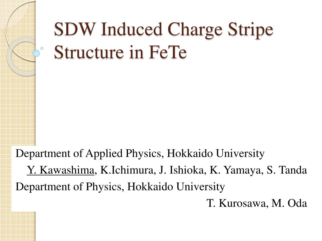 sdw induced charge stripe structure in fete l.