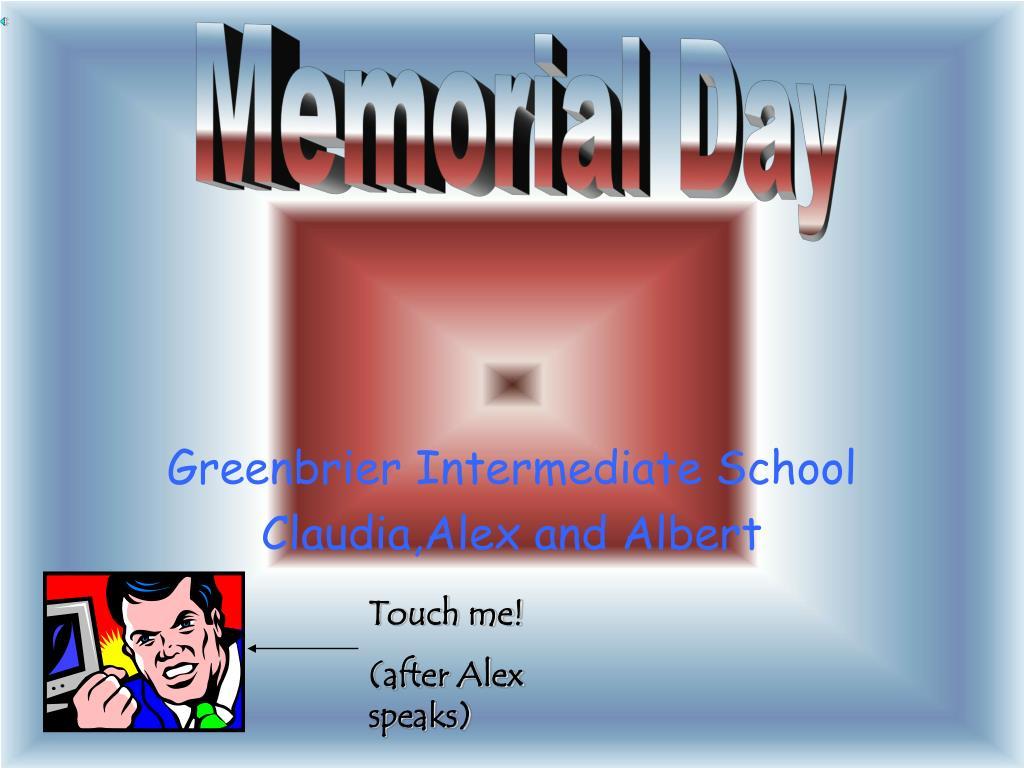greenbrier intermediate school claudia alex and albert l.