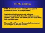 html editors