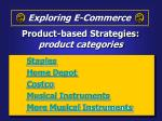 product based strategies product categories