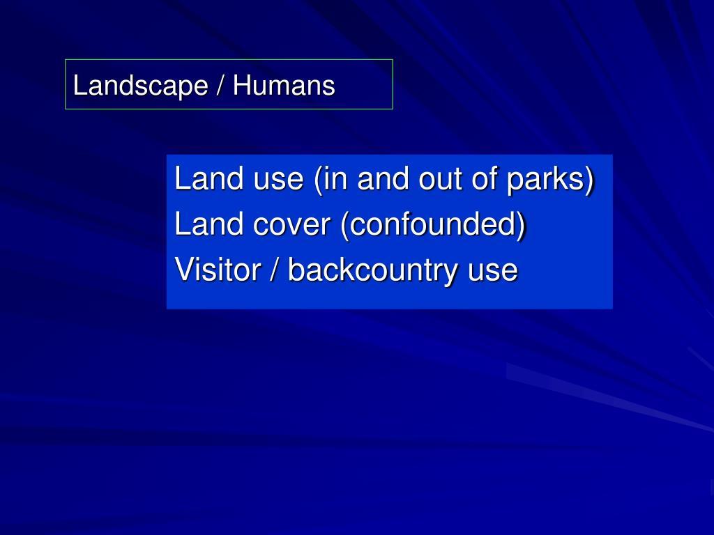 Landscape / Humans