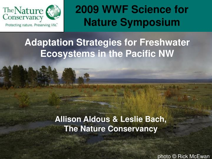 2009 wwf science for nature symposium n.