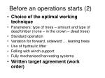 before an operations starts 2