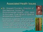 associated health issues