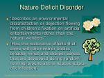 nature deficit disorder
