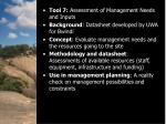 input assessment