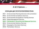 a d options www gsa gov environmentalservices