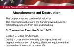 abandonment and destruction