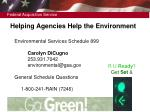 helping agencies help the environment