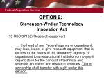 stevenson wydler technology innovation act