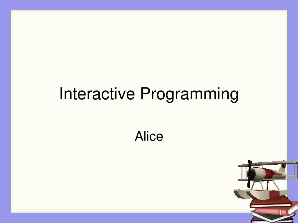 interactive programming l.