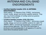 antenna and c ku band endorsements