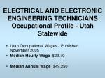 electrical and electronic engineering technicians occupational profile utah statewide