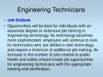 engineering technicians