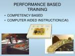 performance based training