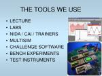 the tools we use
