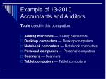 example of 13 2010 accountants and auditors