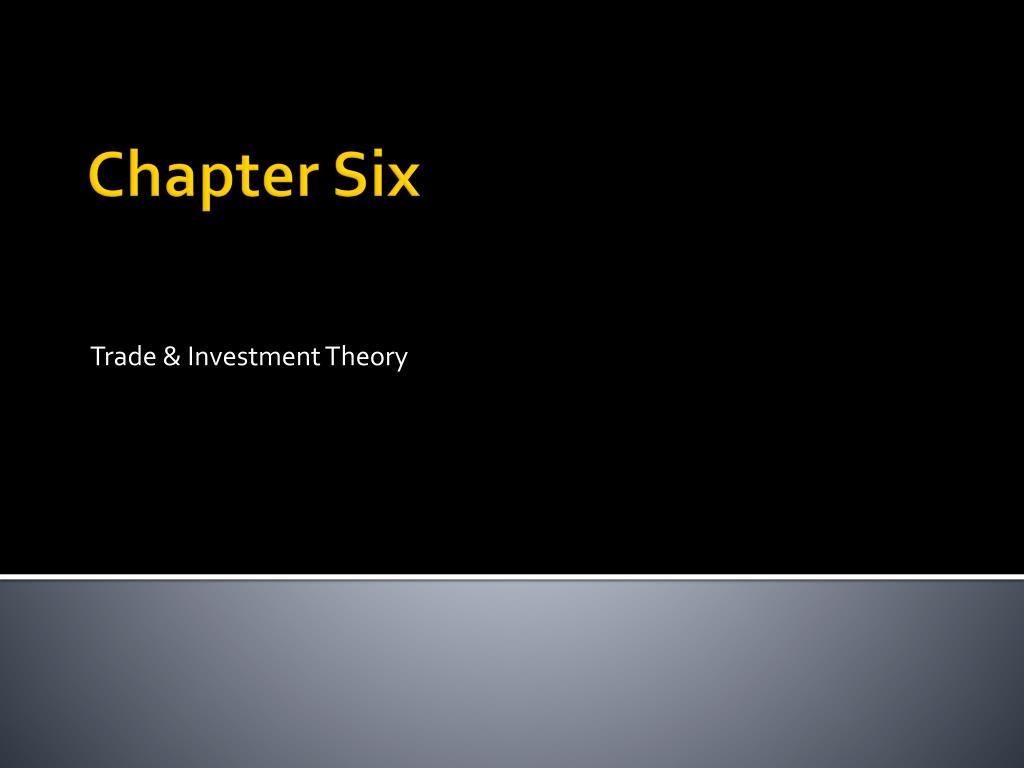 trade investment theory l.