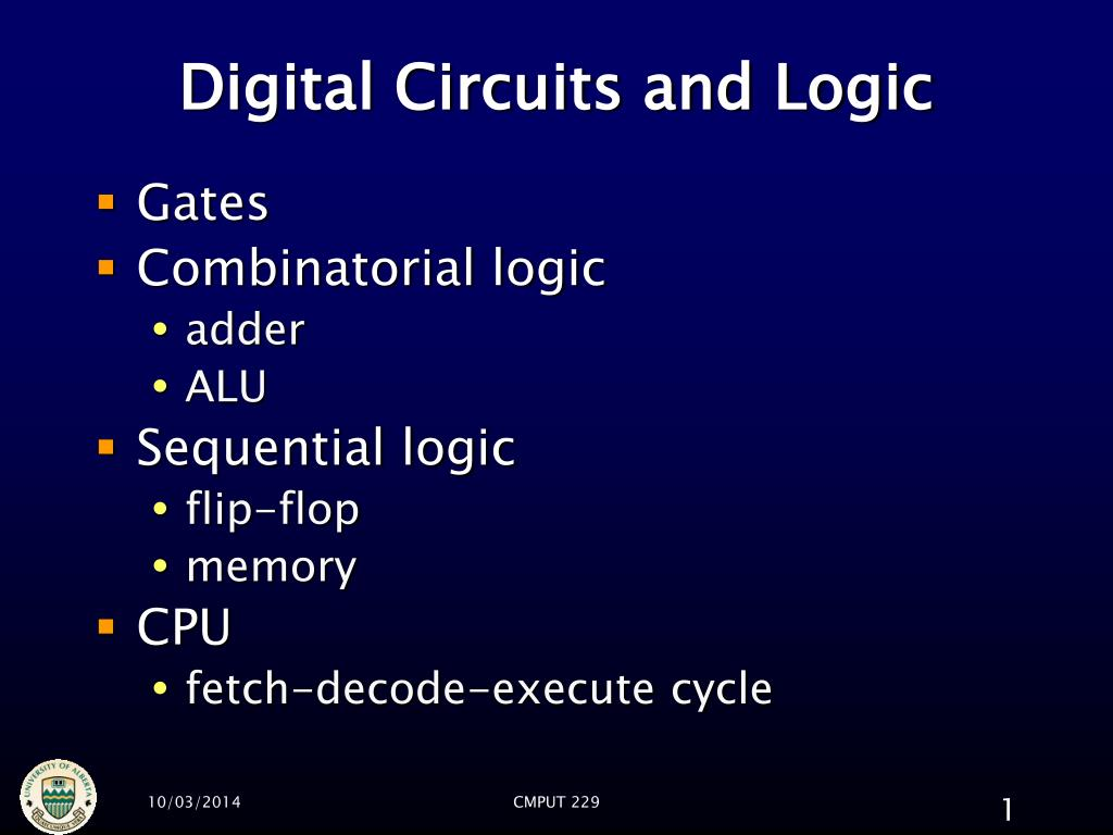 digital circuits and logic l.