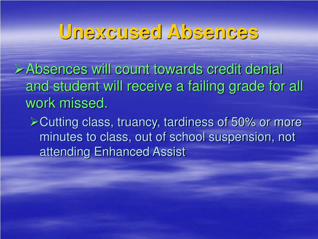 Unexcused Absences