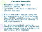 computer operators