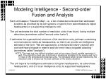 modeling intelligence second order fusion and analysis