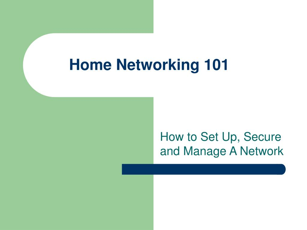home networking 101 l.